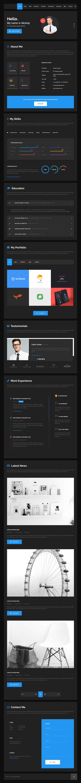 Hello Resume - Premium Resume CV, vCard & Portfolio HTML5 Template
