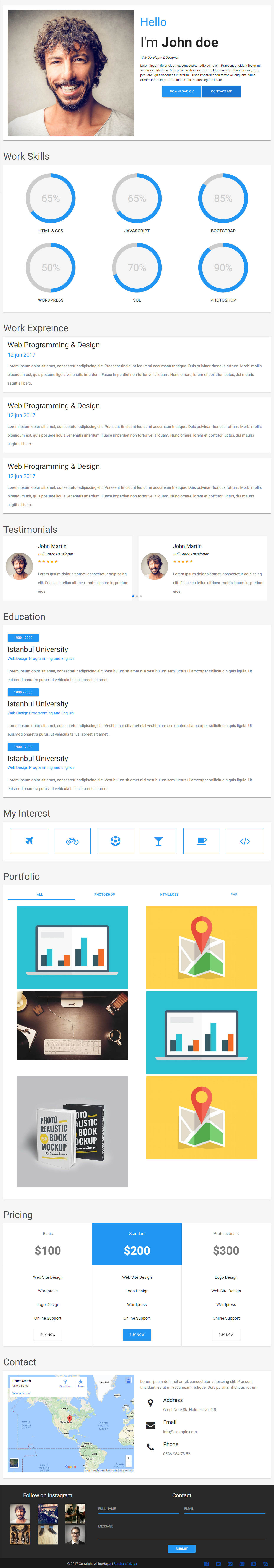 material cv premium responsive resume and cv html template optimised for desktop