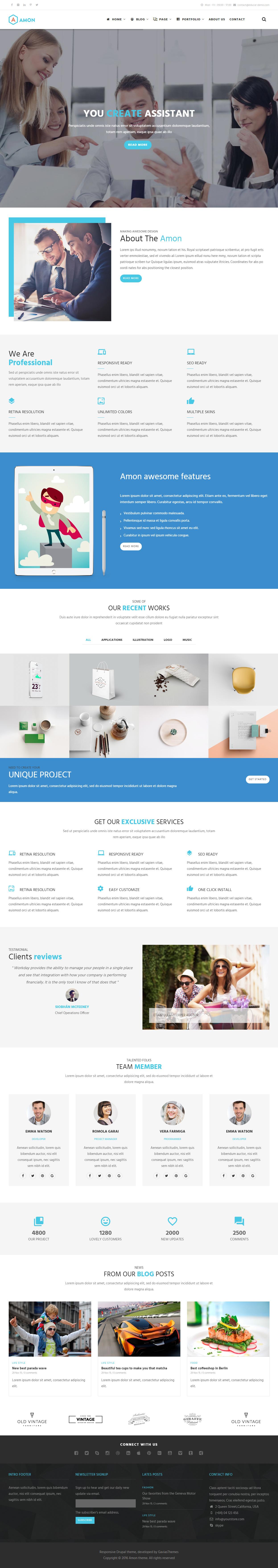 drupal 8 themes free responsive