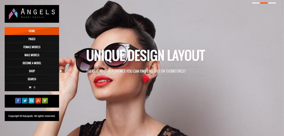 angel premium responsive fashion model agency wordpress theme responsive miracle. Black Bedroom Furniture Sets. Home Design Ideas