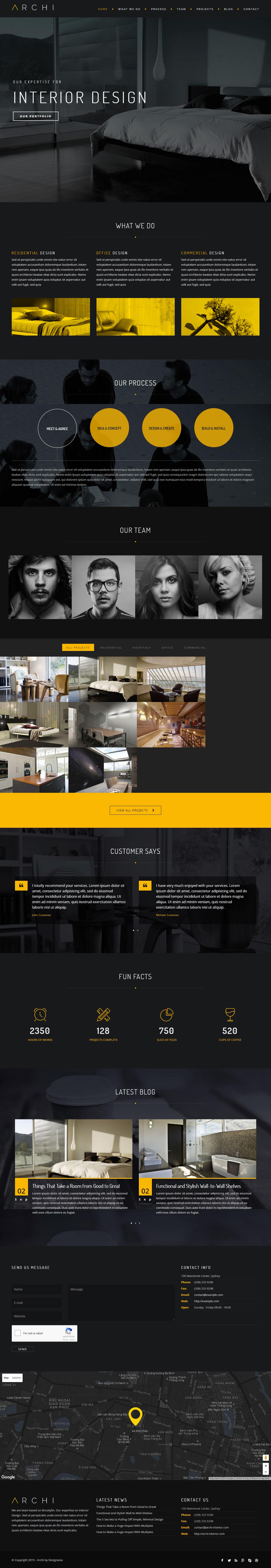 Archi Premium Responsive Interior Design Joomla Template