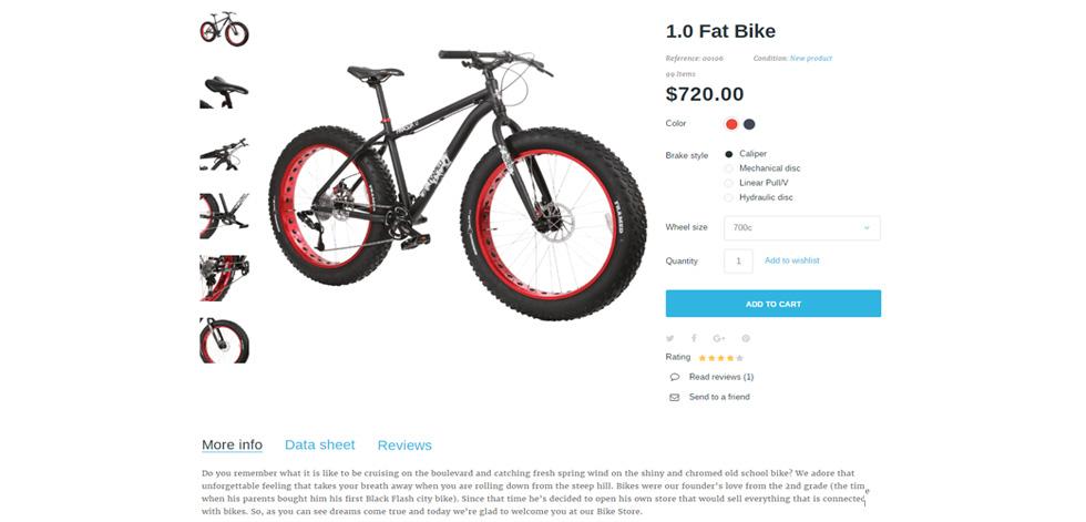 Bikerita Premium Responsive Prestashop Theme