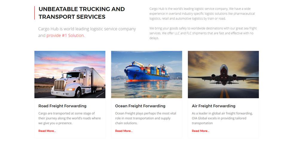 Cargo HUB - Premium Responsive Transportation WordPress Theme