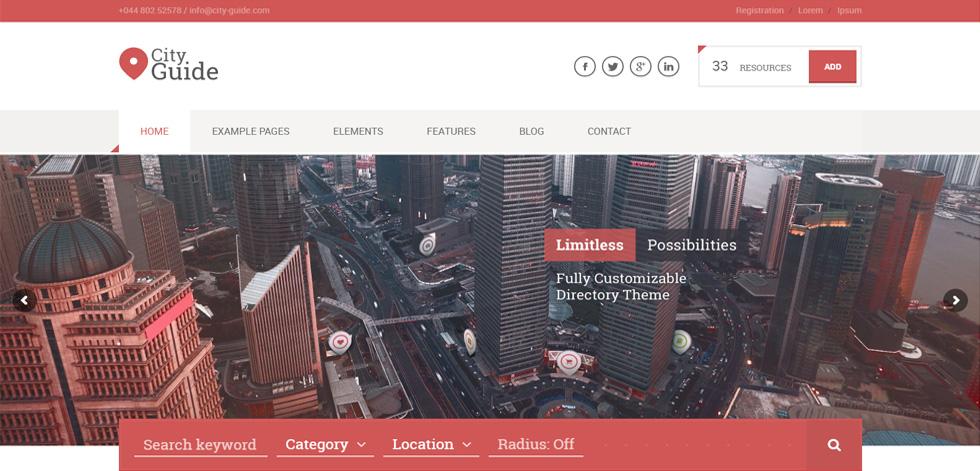 City Guide Premium Responsive Listing Directory