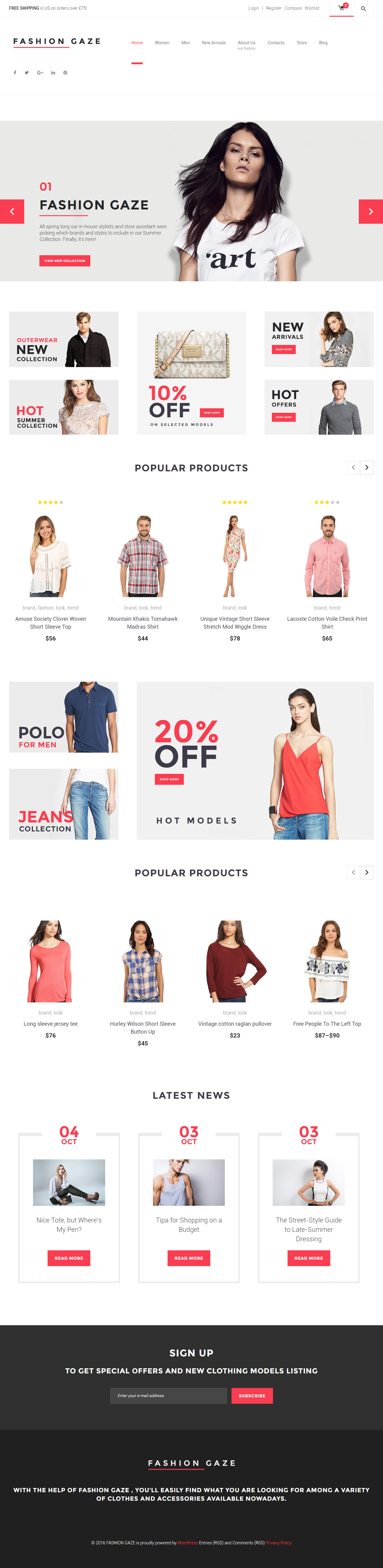 Fashion Gaze Premium Responsive Woocommerce Wordpress Theme