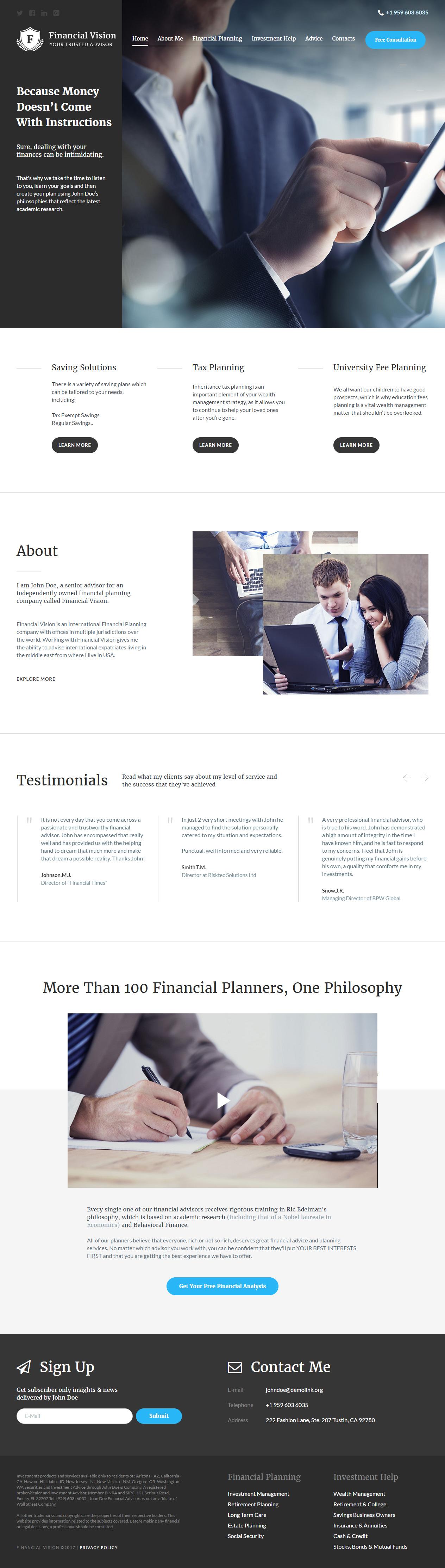 15+ Best Responsive HTML5 Finance Website Templates 2016