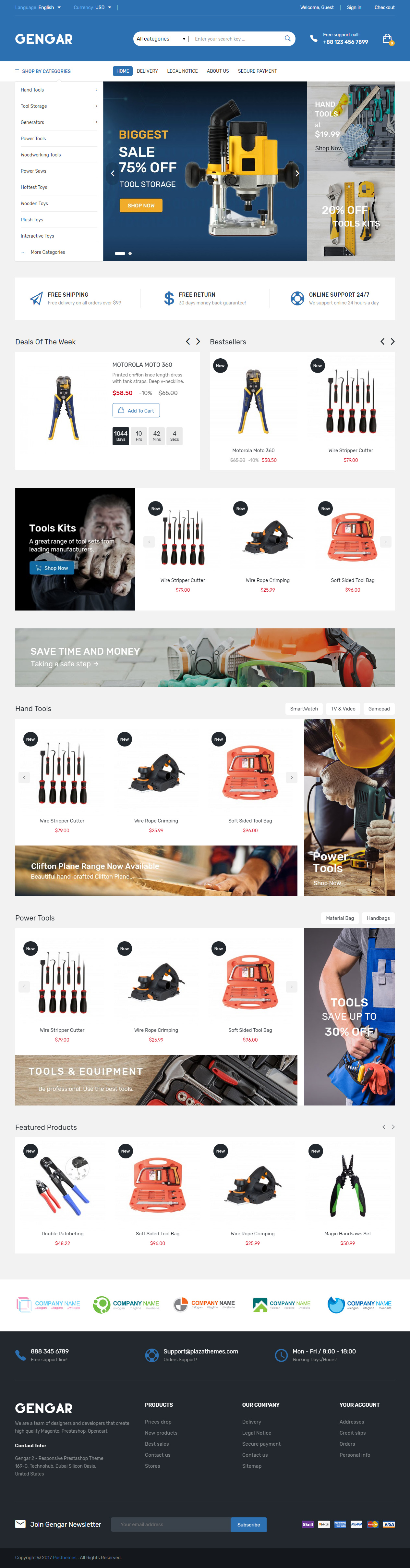 Gengar Premium Responsive Multipurpose Prestashop 1 7 Theme
