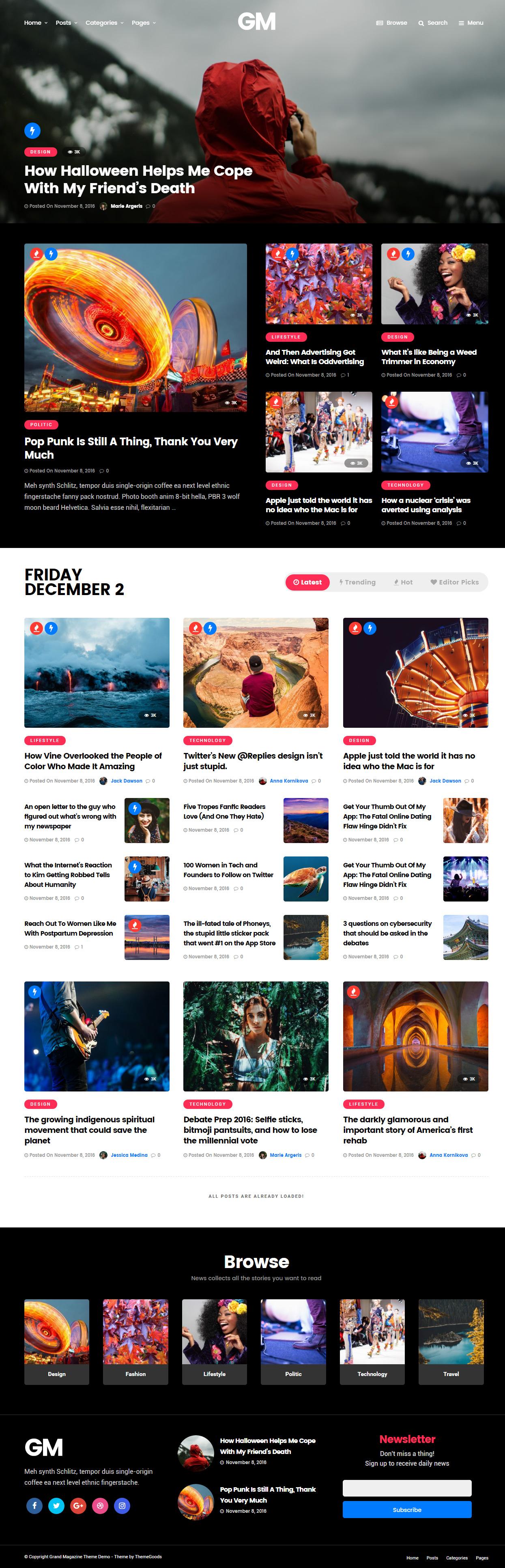 40 Best Wordpress Magazine Themes 2017 - Responsive Miracle