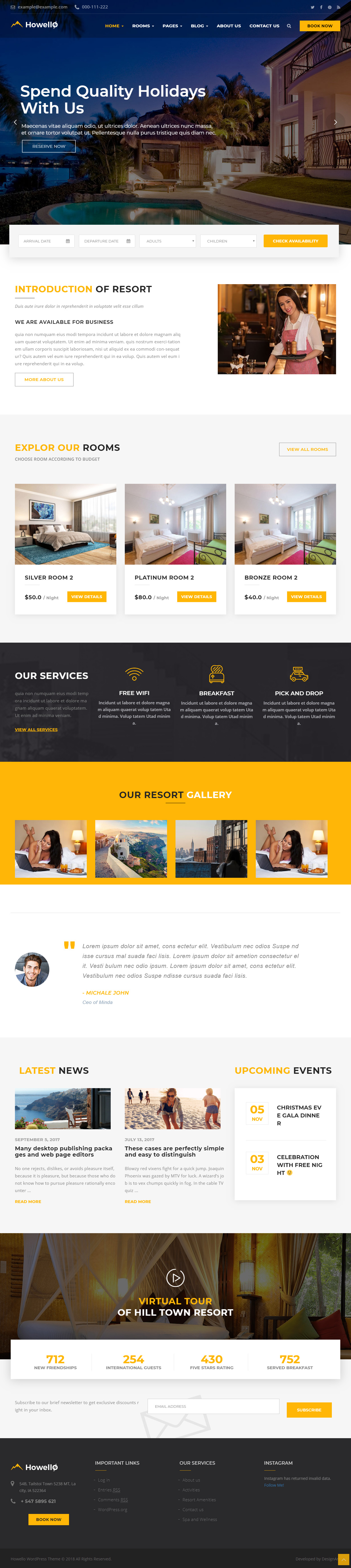5 Latest Hotel Wordpress Themes 2018 - Responsive Miracle