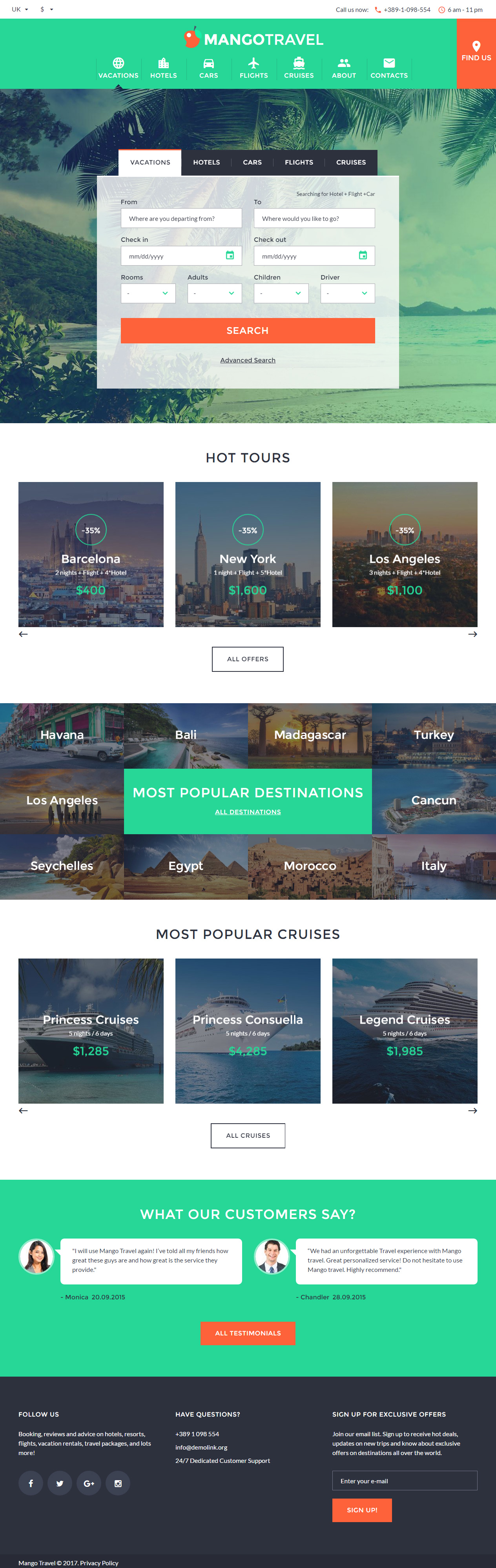 Mangotravel travel html5 templates