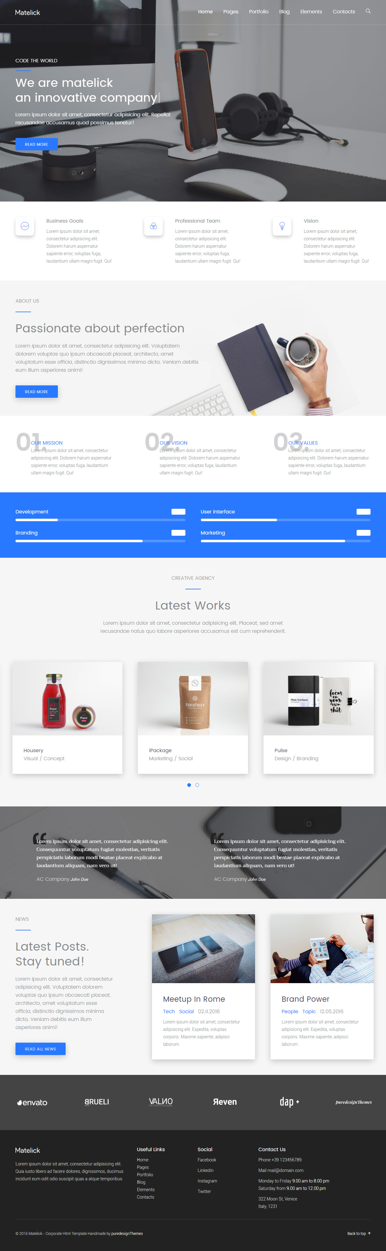 40 best html5 business website templates 2017 responsive miracle metelick html5 business website templates flashek Image collections
