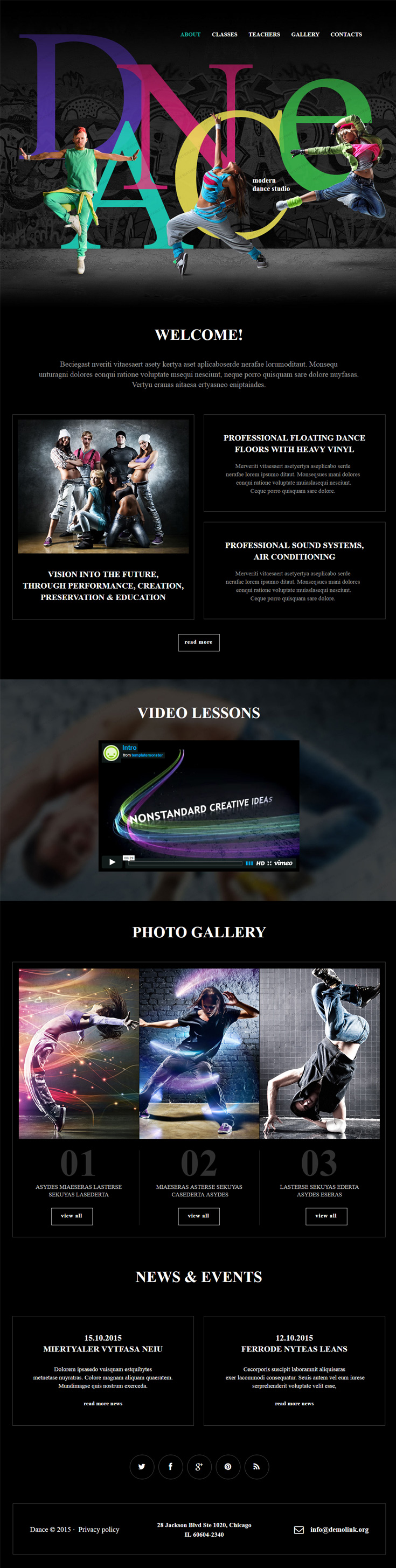 Muse as your cms then night club is top recommendation take a look