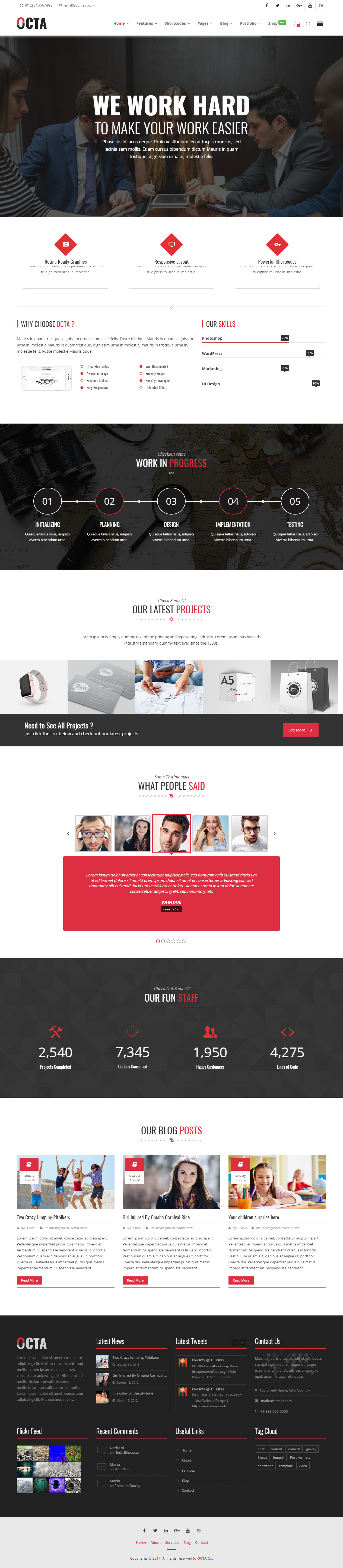 40 Best Responsive Corporate Wordpress Themes 2017 - Responsive Miracle