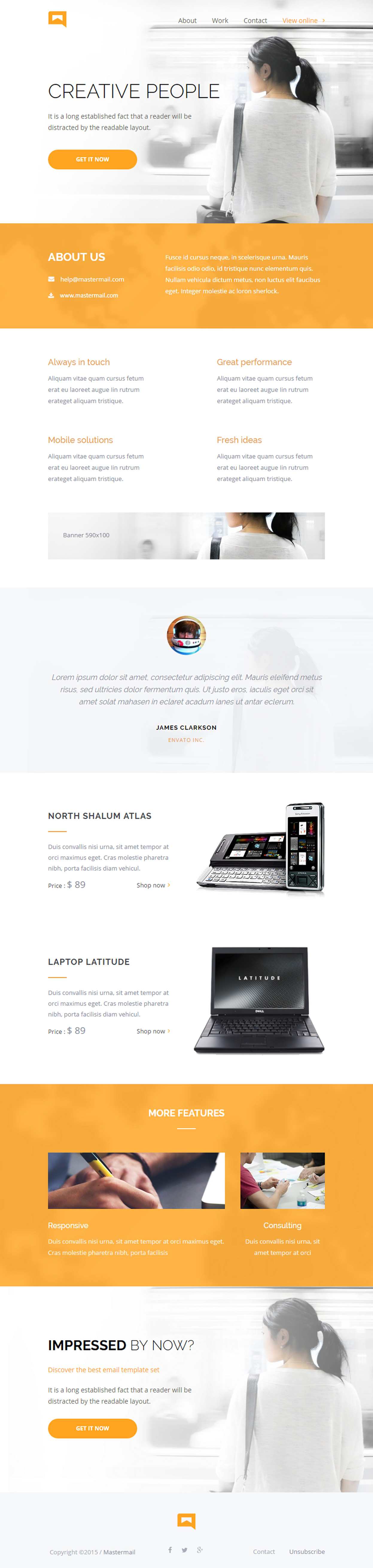 5 best email newsletter template responsive miracle. Black Bedroom Furniture Sets. Home Design Ideas