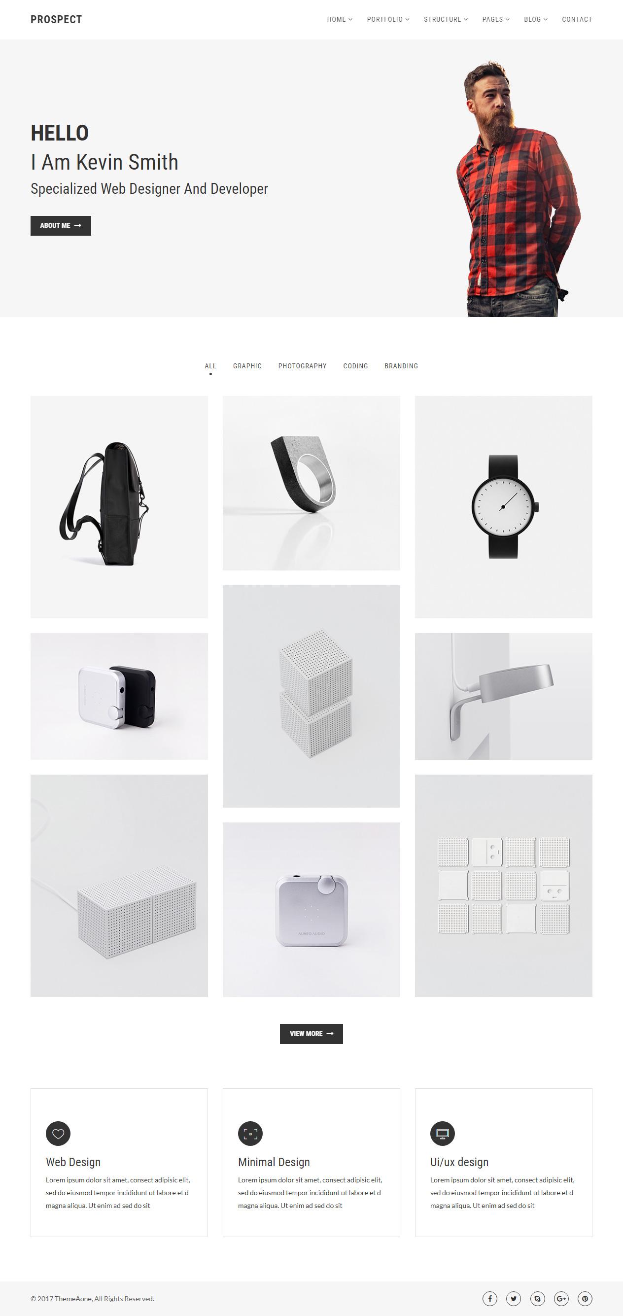 40 best responsive html5 portfolio templates 2017 responsive miracle. Black Bedroom Furniture Sets. Home Design Ideas