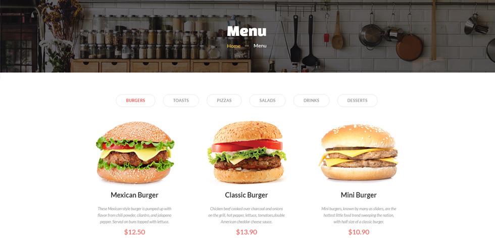 Quick Food - Premium Responsive Fast Food Restaurant HTML5 ...