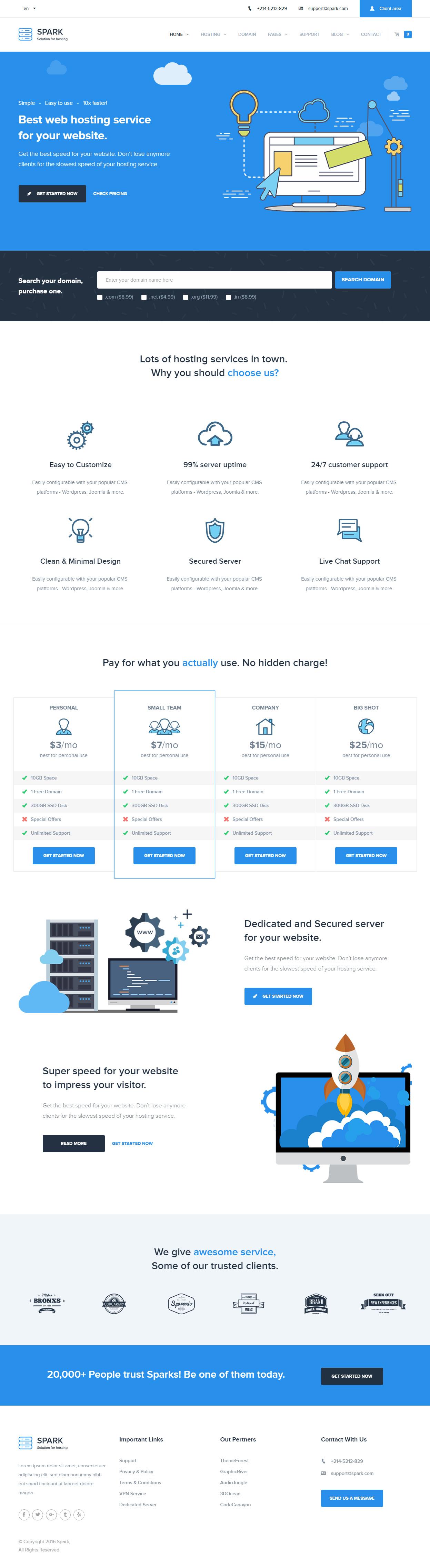 web hosting templates