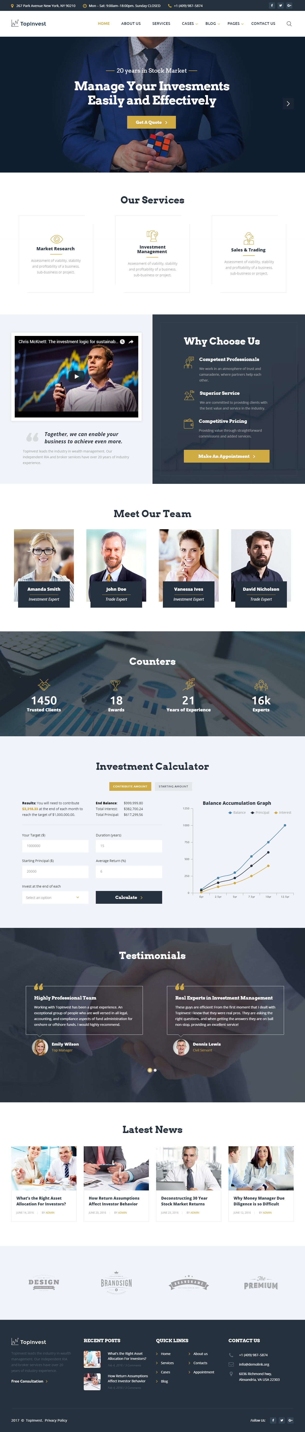 25 Best Responsive HTML5 Finance Website Templates 2017