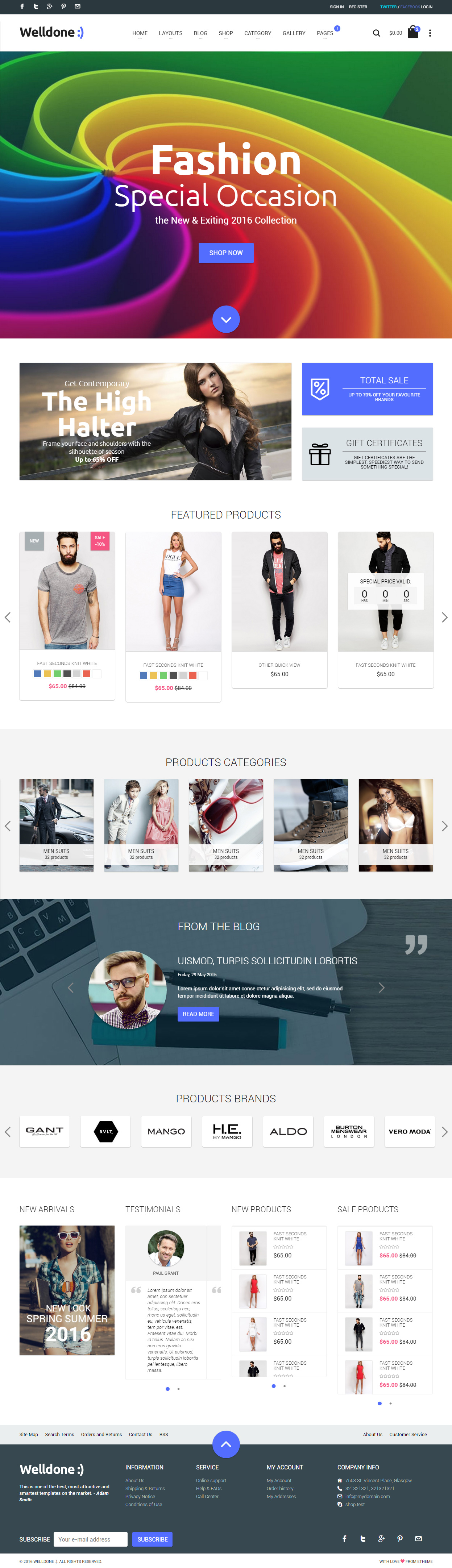 20 best responsive fashion html5 templates 2017 responsive miracle welldone fashion html5 templates yelopaper Images