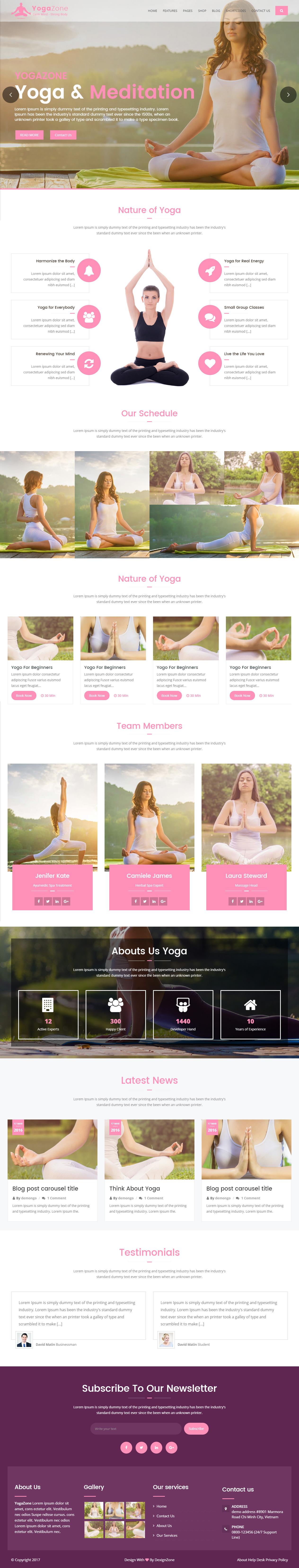 Best Responsive HTML5 Yoga Website Templates 2017 - Responsive Miracle