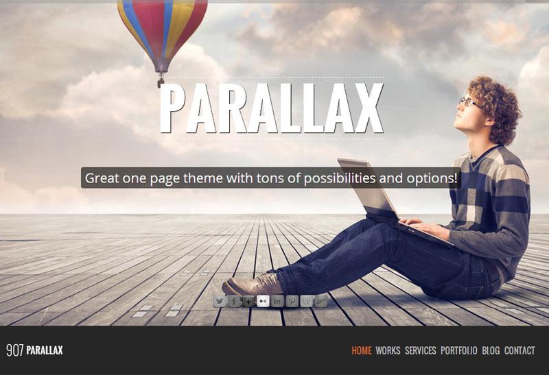 907 - Premium Responsive Wordpress One Page Theme - Free Demo