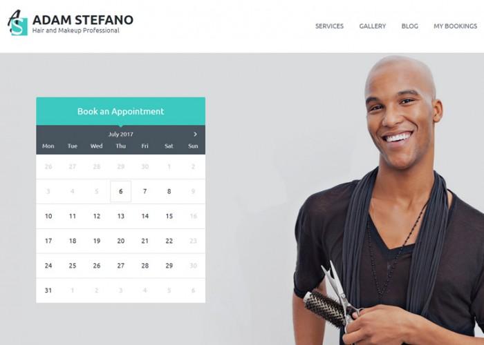 Adam Stefano – Premium Responsive Hair & Makeup WordPress Theme