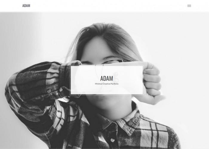 ADAM – Premium Responsive Minimal Portfolio WordPress Theme