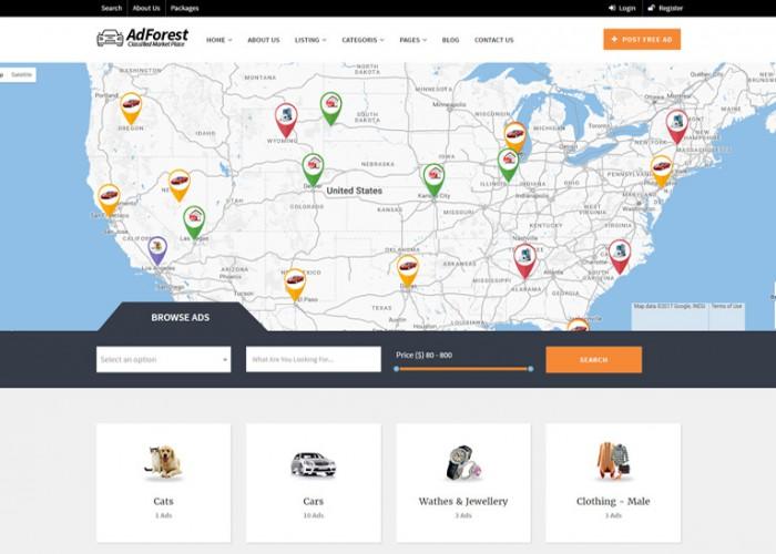 AdForest – Premium Responsive Classified WordPress Theme