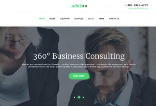 Advisto – Premium Responsive Financial Advisor Consultancy WordPress Theme