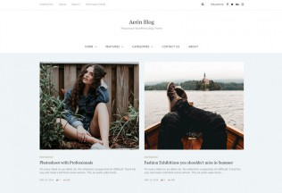 Aerin – Premium Responsive Personal & Magazine WordPress Clean Blog Theme