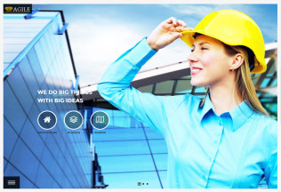 Agile – Premium Responsive Building Construction HTML5 Template