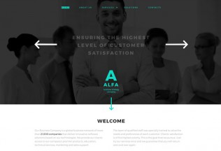 Alfa – Premium Responsive Businessman HTML5 Template