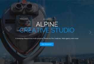 Alpine – Premium Responsive One Page Parallax Drupal Theme