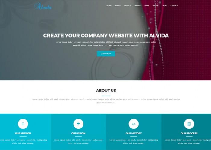 Alvida – Premium Responsive One Page Business Joomla Theme