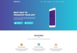 Andalus – Premium responsive App Landing Page HTML5 Template
