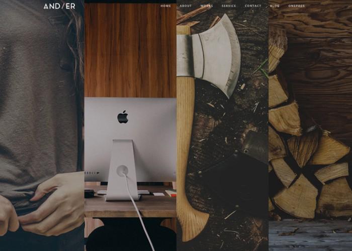 Andier – Premium Responsive One Page & Multi Page Portfolio WordPress Theme