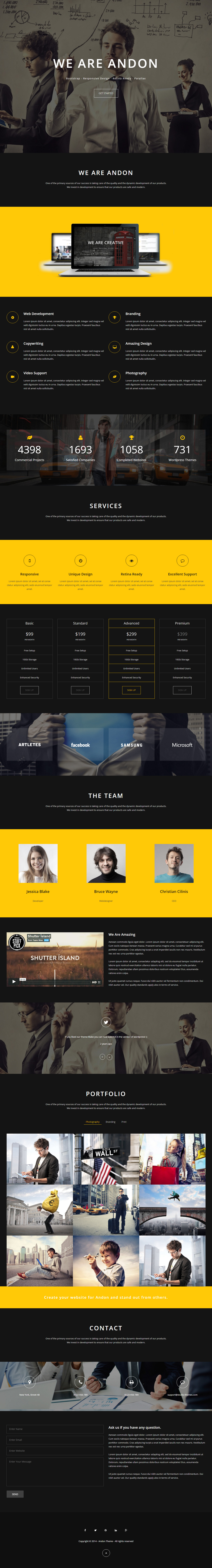 Andon Premium Parallax One Page Muse Template