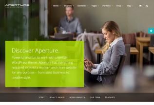 Aperture – Premium Responsive Full Featured WordPress Theme