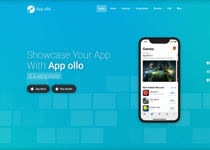 App ollo – Premium Responsive App Landing Page HTML5 Template