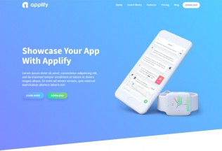 Applify – Premium Responsive App Landing Page HTML5 Template
