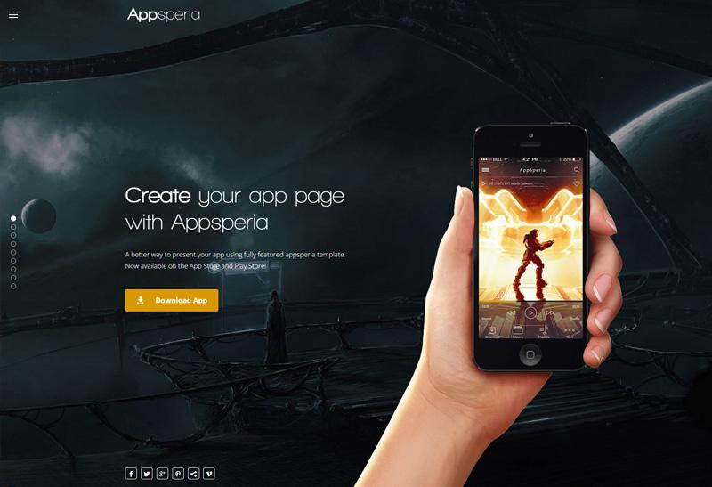 Appsperia Premium Responsive App Landing Page Wordpress