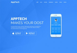 AppTech – Premium Responsive Multipurpose Landing Page HTML5 Template
