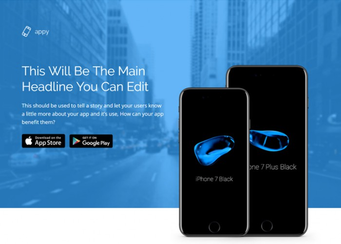 Appy – Premium Responsive App Landing Page HTML5 Template