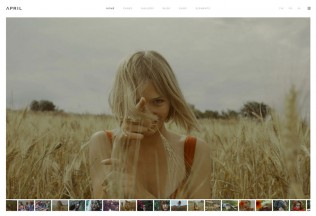 April – Premium Resopnsive Sophisticated Photography WordPress Theme