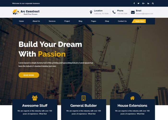 Arc Construct – Premium Responsive Construction HTML5 Template