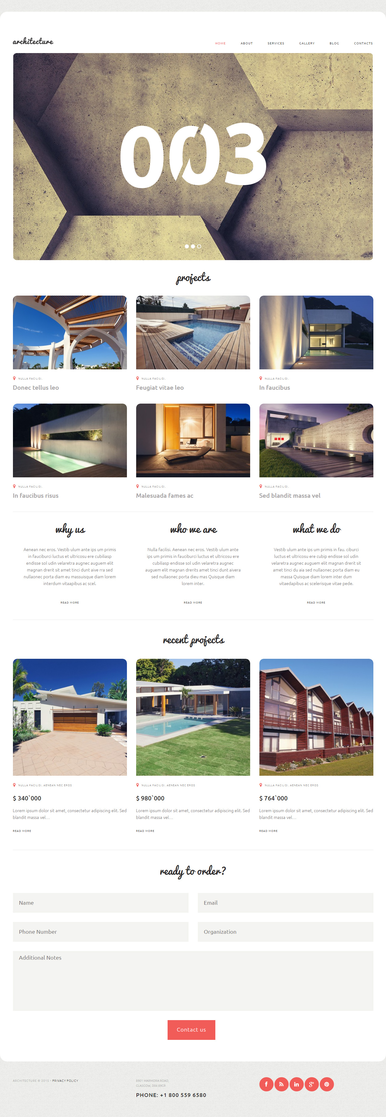 Architecture premium responsive architecture bureau for Architecture wordpress