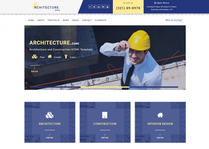 Architecture.Zone – Premium Responisve Architecture and Construction HTML5 Template