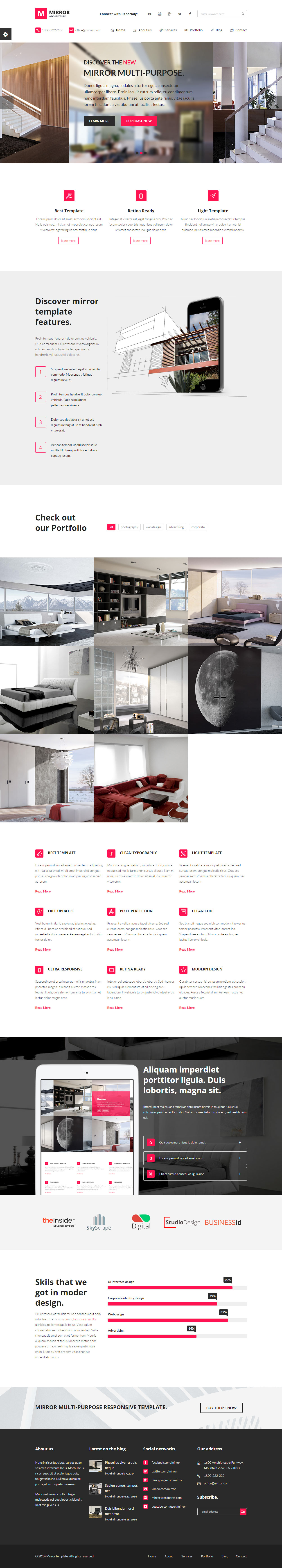Best Responsive Interior Design And Architecture HTML5 Templates 2014 0