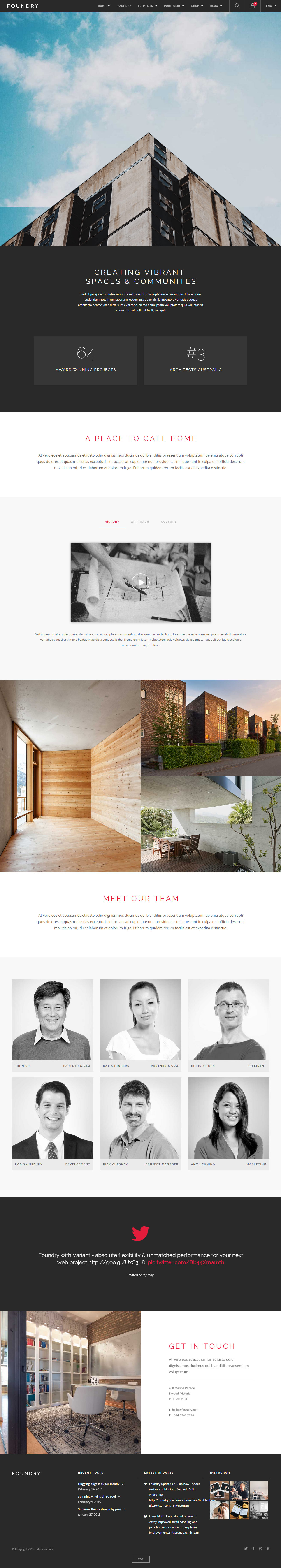 30 best responsive architect website templates 2017 for Best architects websites