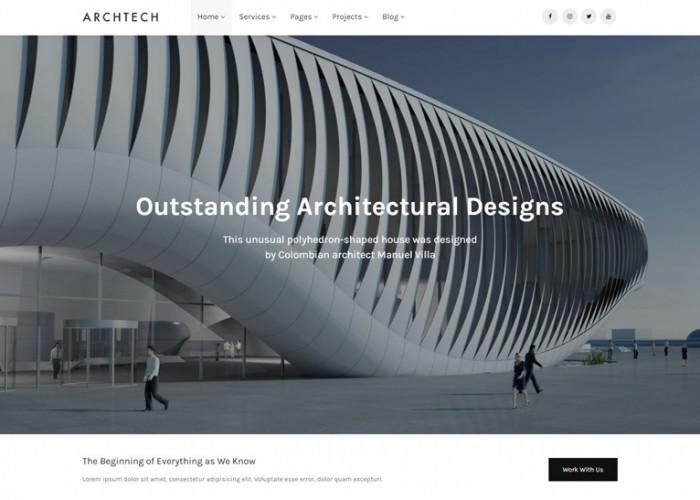 Archtech – Premium Responsive Architecture & Construction HTML5 Template